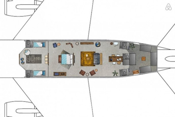 The Grounded Airplane Apartment - KLM Airplane Project for Airbnb3