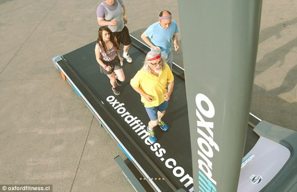 Treadmill that Lets 10 Persons Use it Simultaneously