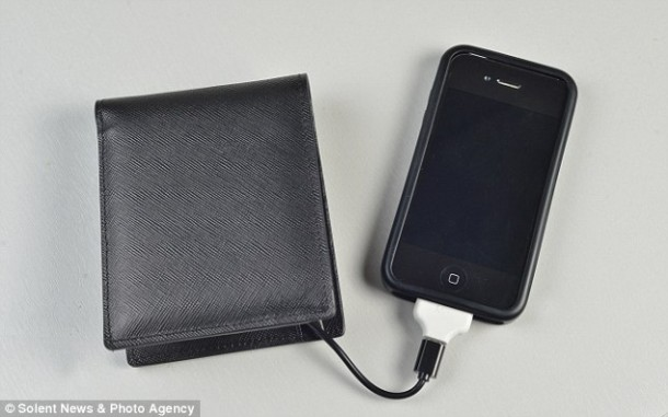 Wallet Doubling up as a Battery Pack