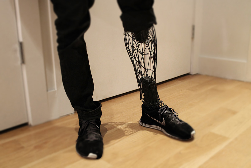 This 3D Printed Exo-Prosthetic leg Is A Work Of Art