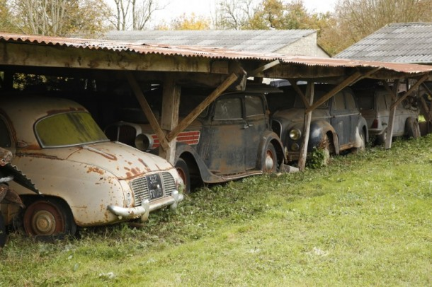 60 Rare Cars Found after 50 Years in a Barn in France 10