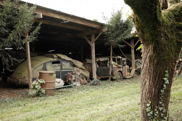 60 Rare Cars Found after 50 Years in a Barn in France 11