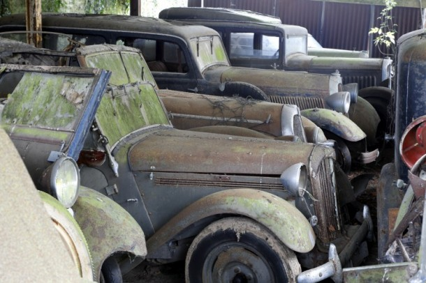 60 Rare Cars Found after 50 Years in a Barn in France 13