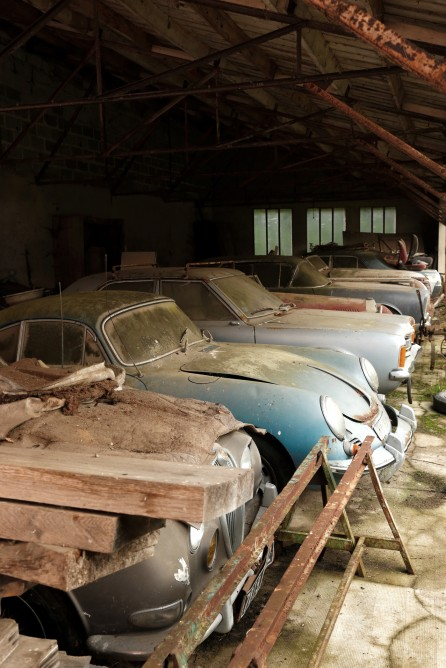 60 Rare Cars Found after 50 Years in a Barn in France 14