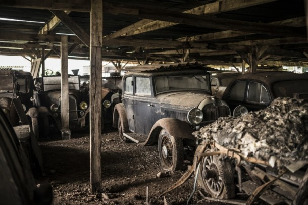 60 Rare Cars Found after 50 Years in a Barn in France 16