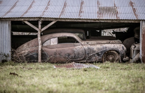 60 Rare Cars Found after 50 Years in a Barn in France 2