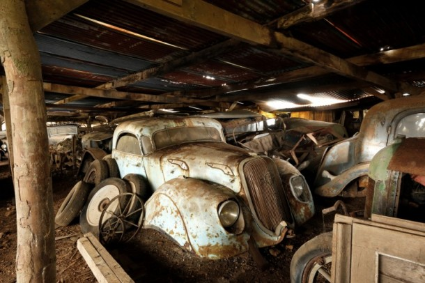 60 Rare Cars Found after 50 Years in a Barn in France 25
