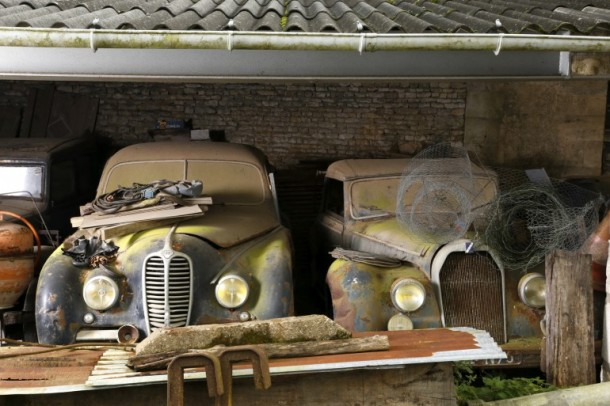 60 Rare Cars Found after 50 Years in a Barn in France 3
