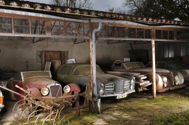 60 Rare Cars Found after 50 Years in a Barn in France 6