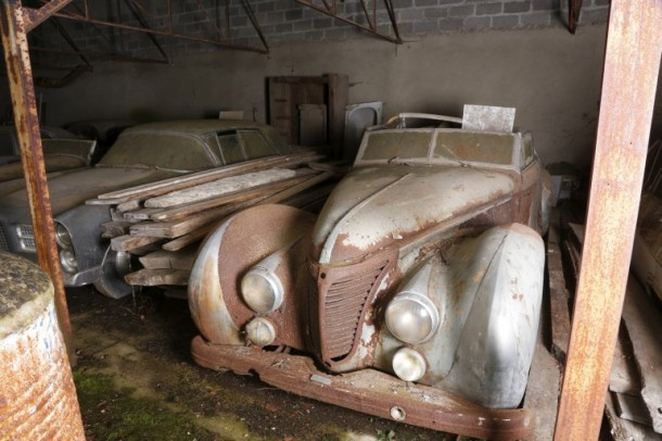 60 Rare Cars Found after 50 Years in a Barn in France
