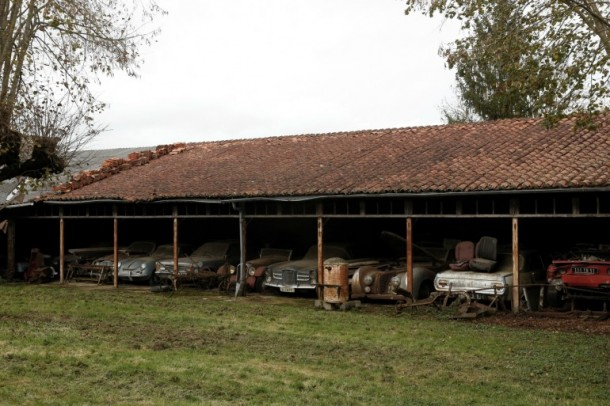 60 Rare Cars Found after 50 Years in a Barn in France 7