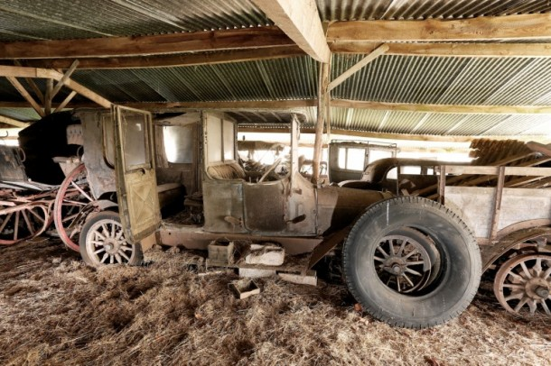 60 Rare Cars Found after 50 Years in a Barn in France 9