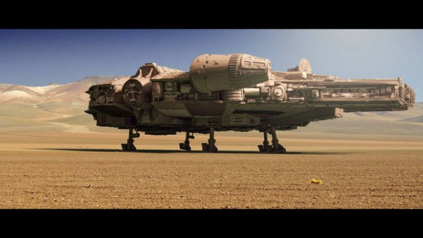 A Giant Millennium Falcon Created from Cardboard 11