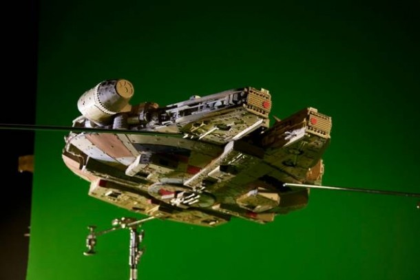 A Giant Millennium Falcon Created from Cardboard 8