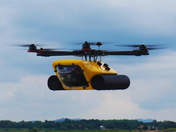 Amphibious HexH2o Drone