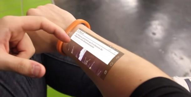 Cicret Wristband – Touchscreen on Forearm 2
