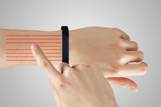 Cicret Wristband – Touchscreen on Forearm