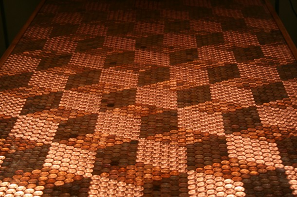 DIY Pennies Table – Amazing use of Pennies 17