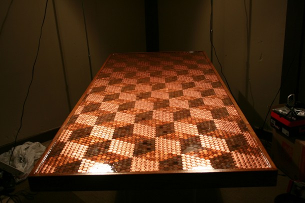 DIY Pennies Table – Amazing use of Pennies 18