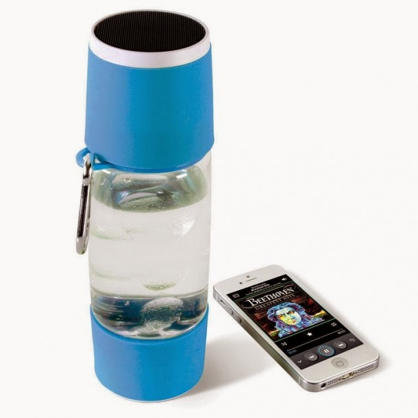 Music on The Go – Water Bottle with a Bluetooth Speaker