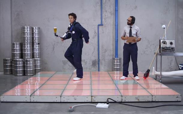 Spill proof beer dancing