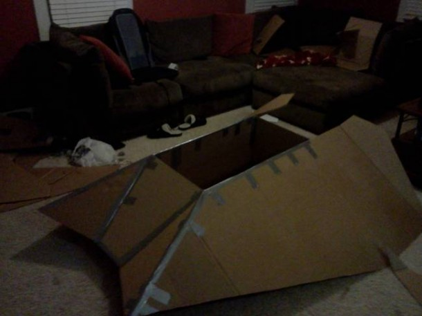 Star Wars Speeder Sled built From Duct Tape and Cardboard 2