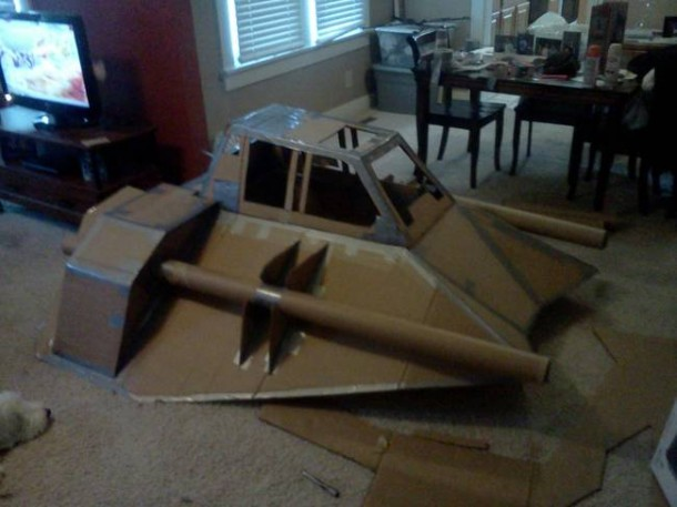 Star Wars Speeder Sled built From Duct Tape and Cardboard  3