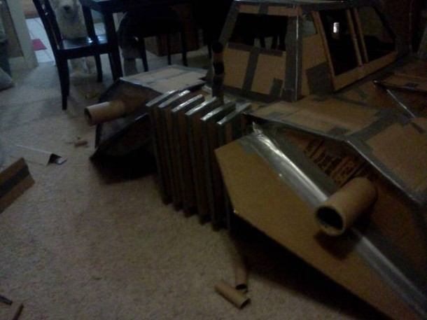 Star Wars Speeder Sled built From Duct Tape and Cardboard  4
