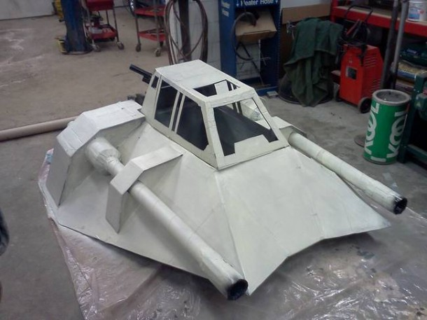 Star Wars Speeder Sled built From Duct Tape and Cardboard  5
