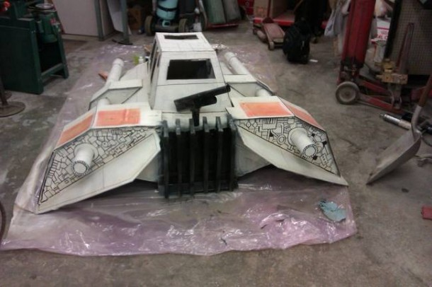 Star Wars Speeder Sled built From Duct Tape and Cardboard  6