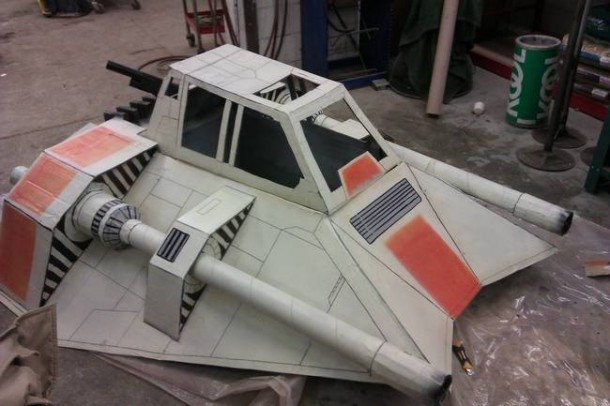 Star Wars Speeder Sled built From Duct Tape and Cardboard  7