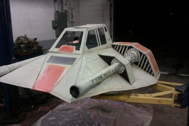 Star Wars Speeder Sled built From Duct Tape and Cardboard  8
