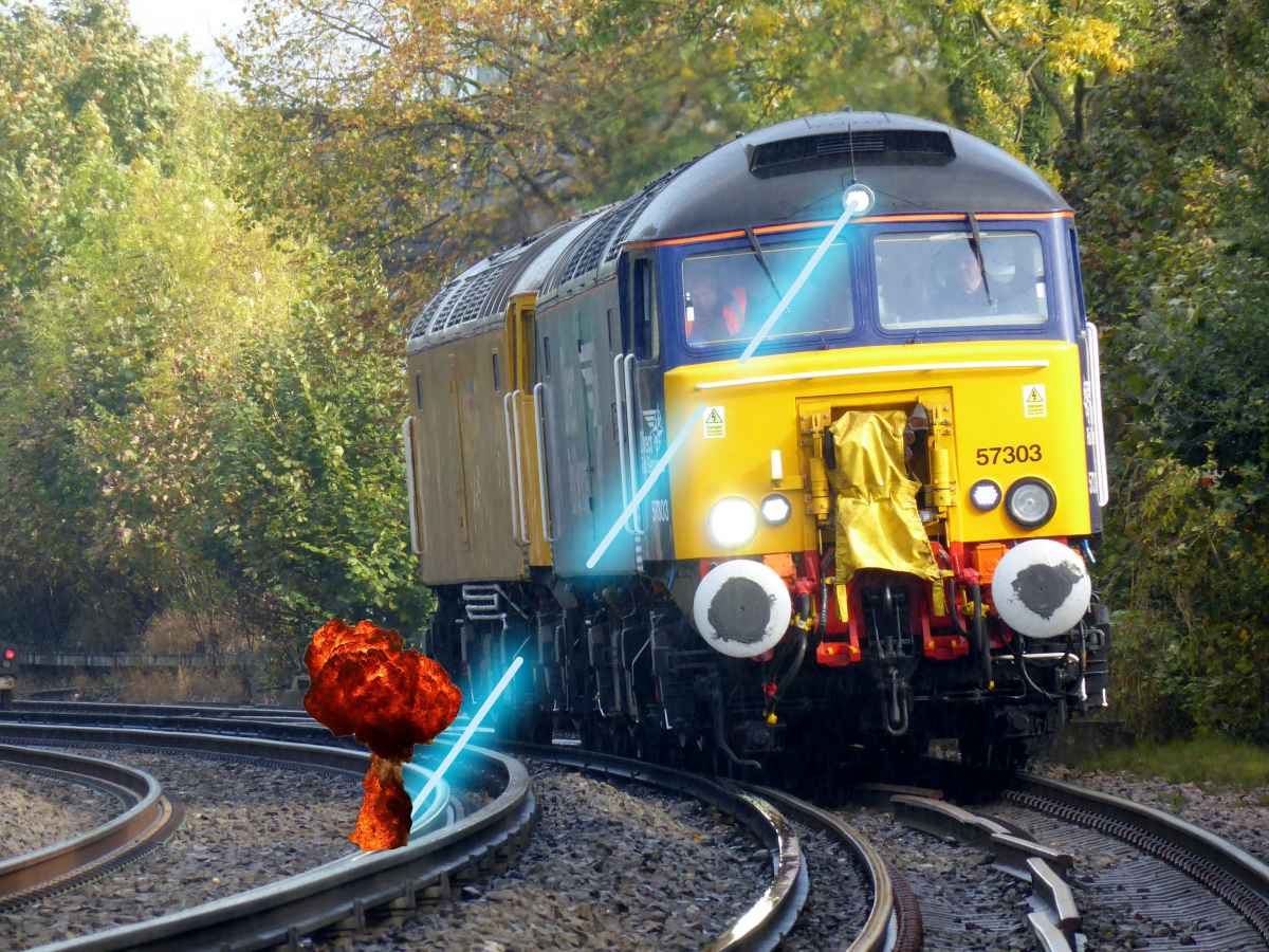 Vaporize Leaves on Rail tracks - Laser Railhead Cleaner2