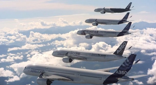 Airbus Formation Flying A350 XWB planes 3