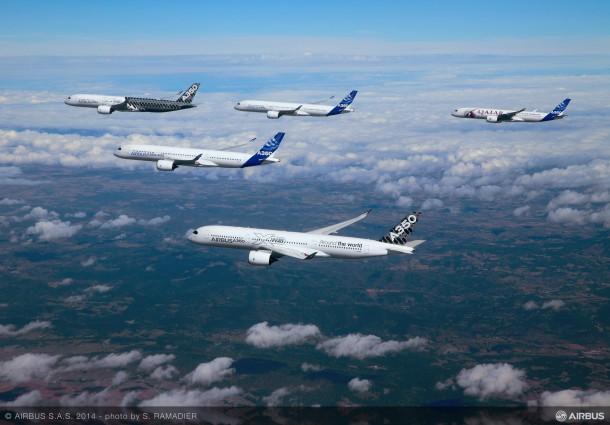 Airbus Formation Flying A350 XWB planes 5
