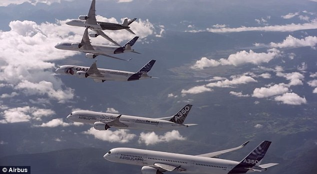 Airbus Formation Flying A350 XWB planes 6