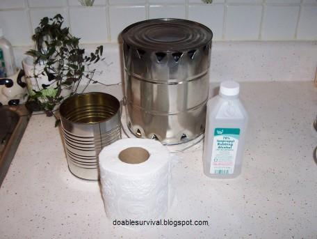 DIY Heater – Alcohol, Metallic Can and Toilet Roll2