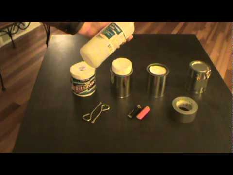 DIY Heater – Alcohol, Metallic Can and Toilet Roll6