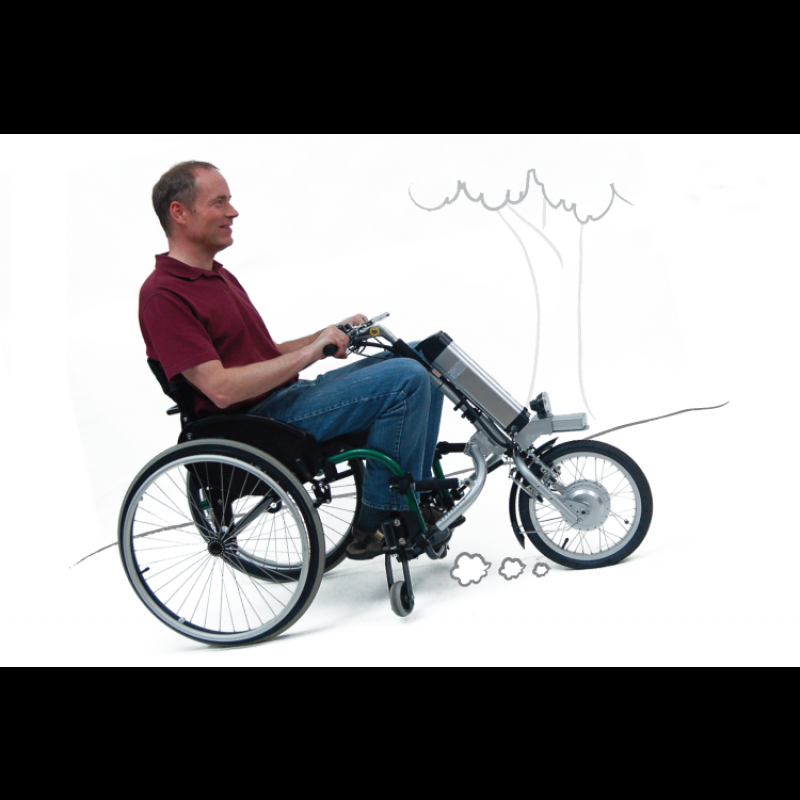 Transform your wheelchair into a powered tricycle with for Cost of motorized wheelchair
