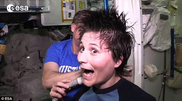 Haircut in Space – ESA Released Video3