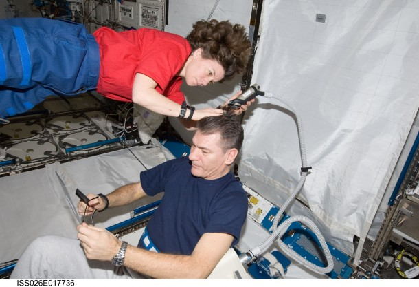 Haircut in space