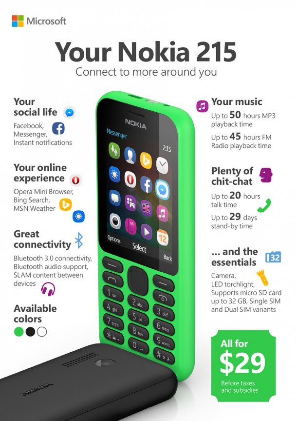Nokia 215 is The Cheapest Microsoft Phone4