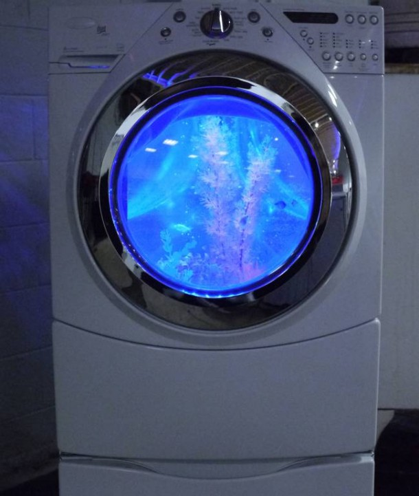 Washing Machine Transformation into a Fish Tank9