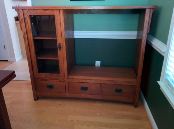 DIY Transformation of TV Cabinet into Something Cool