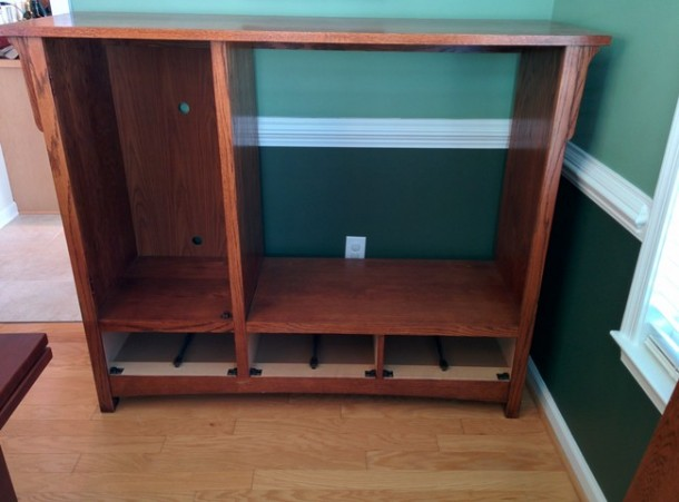 DIY Transformation of TV Cabinet into Something Cool2