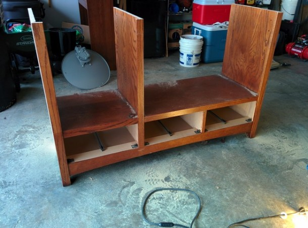 DIY Transformation of TV Cabinet into Something Cool5