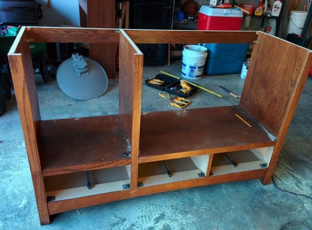 DIY Transformation of TV Cabinet into Something Cool6