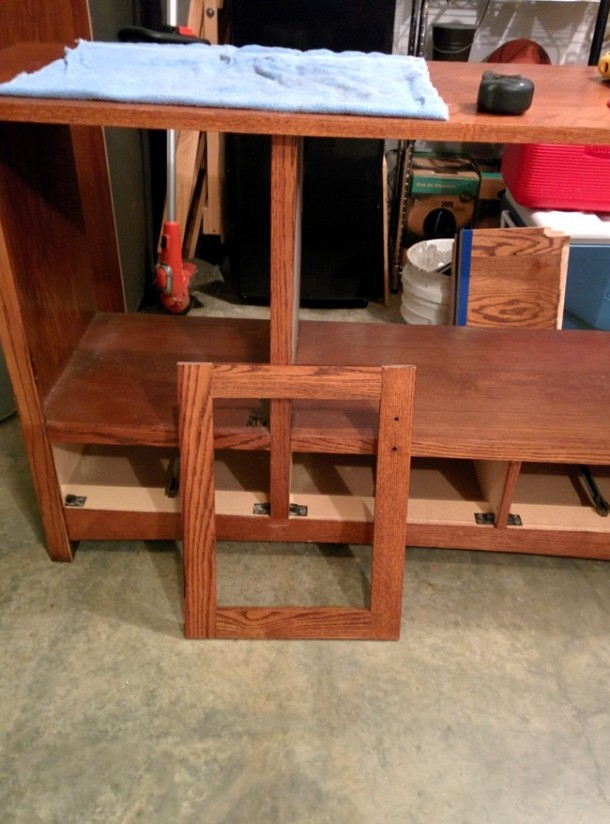 DIY Transformation of TV Cabinet into Something Cool8