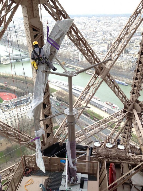 Eiffel Tower gets Wind Turbines