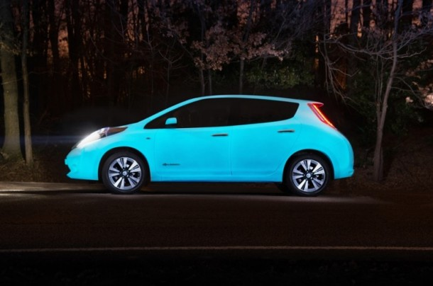 Nissan Glow-in-the-dark Electric Leaf is Amazing4